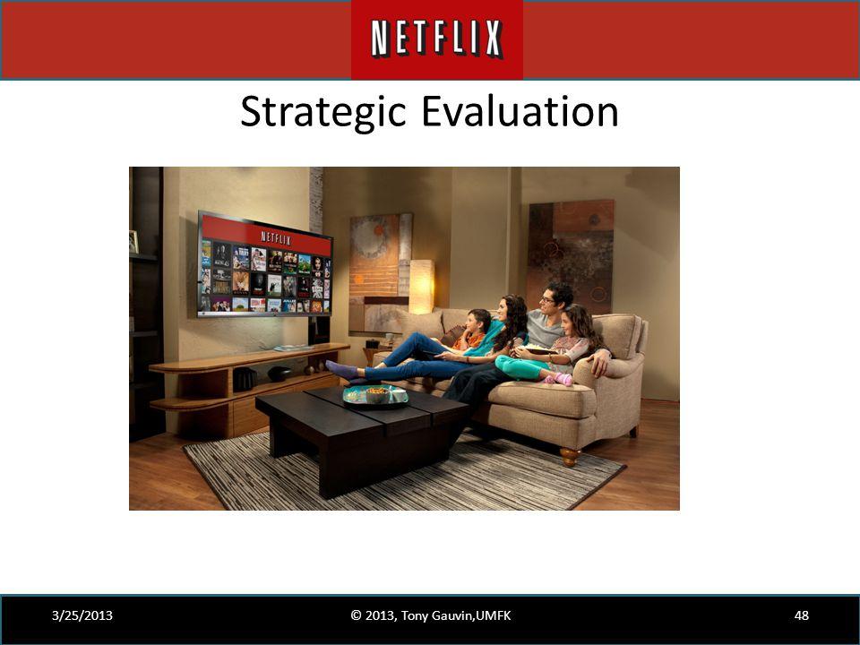 Strategic Evaluation 3/25/2013 © 2013, Tony Gauvin,UMFK