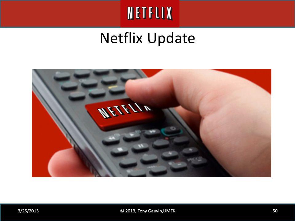 Netflix Update 3/25/2013 © 2013, Tony Gauvin,UMFK