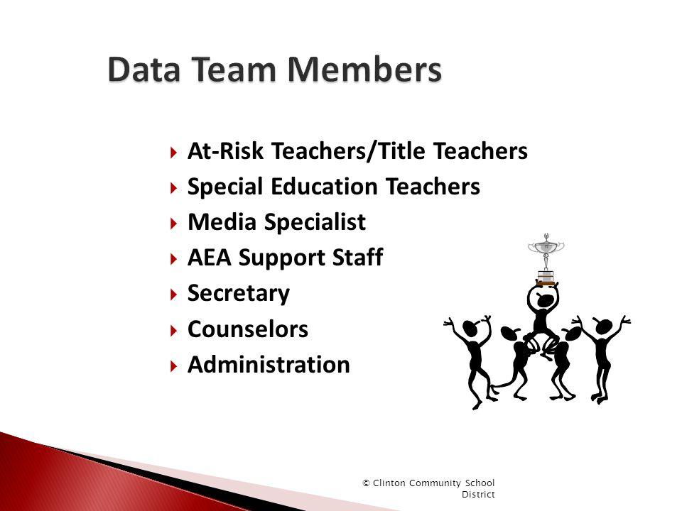 Data Team Members At-Risk Teachers/Title Teachers