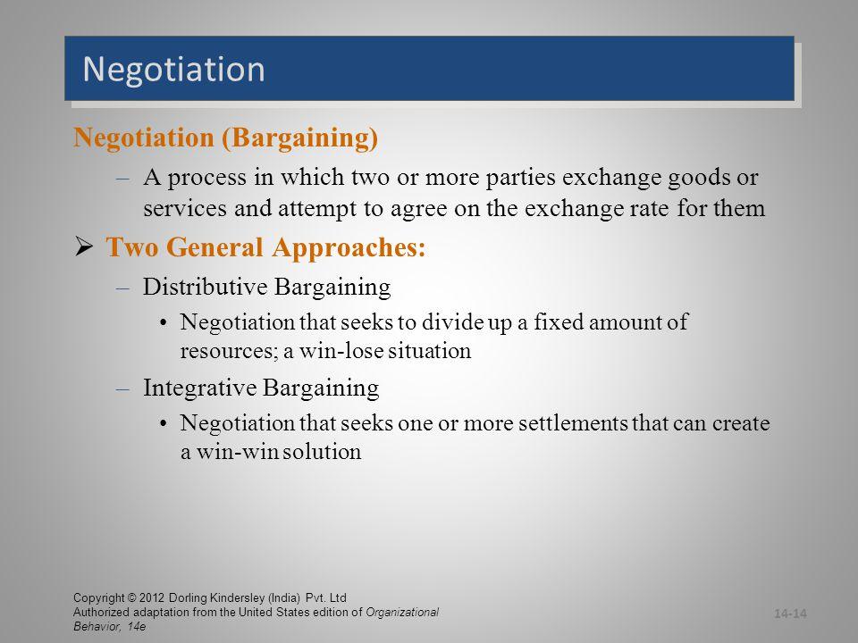 Distributive versus Integrative Bargaining