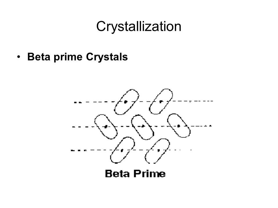 Crystallization Beta prime Crystals