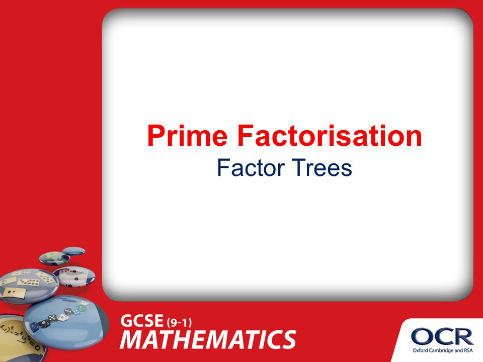 Prime Factorisation Factor Trees