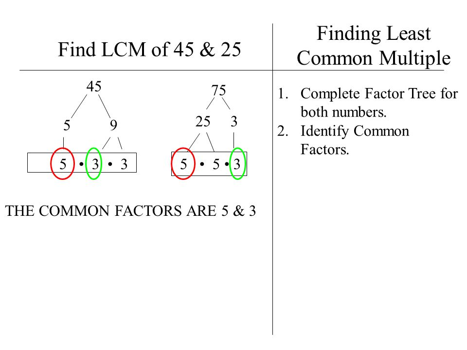 Finding Least Common Multiple