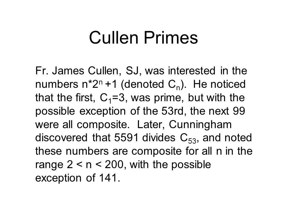 Cullen Primes