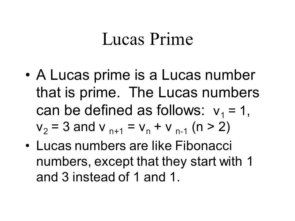 Lucas Prime
