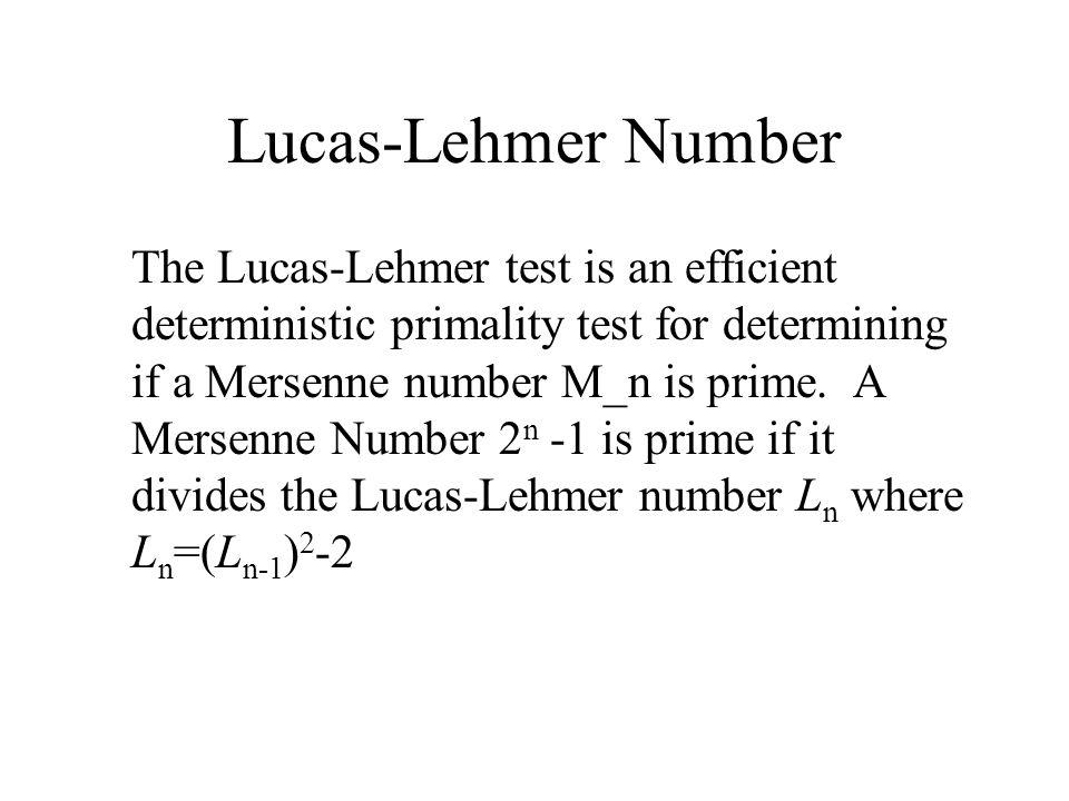 Lucas-Lehmer Number