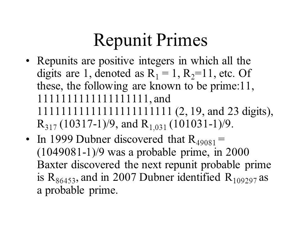 Repunit Primes