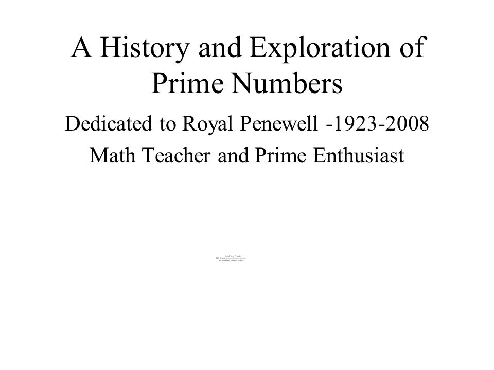 A History and Exploration of Prime Numbers