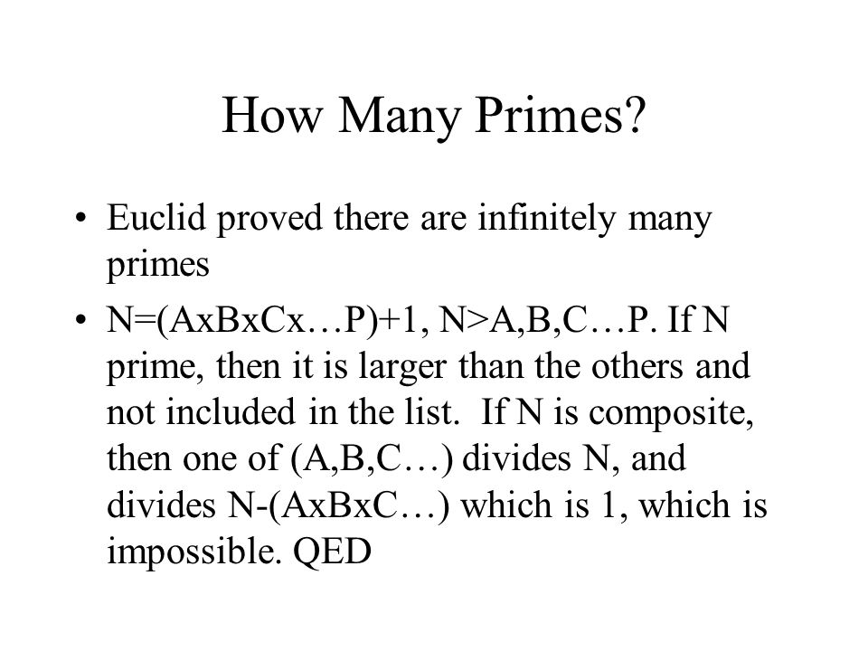 How Many Primes Euclid proved there are infinitely many primes