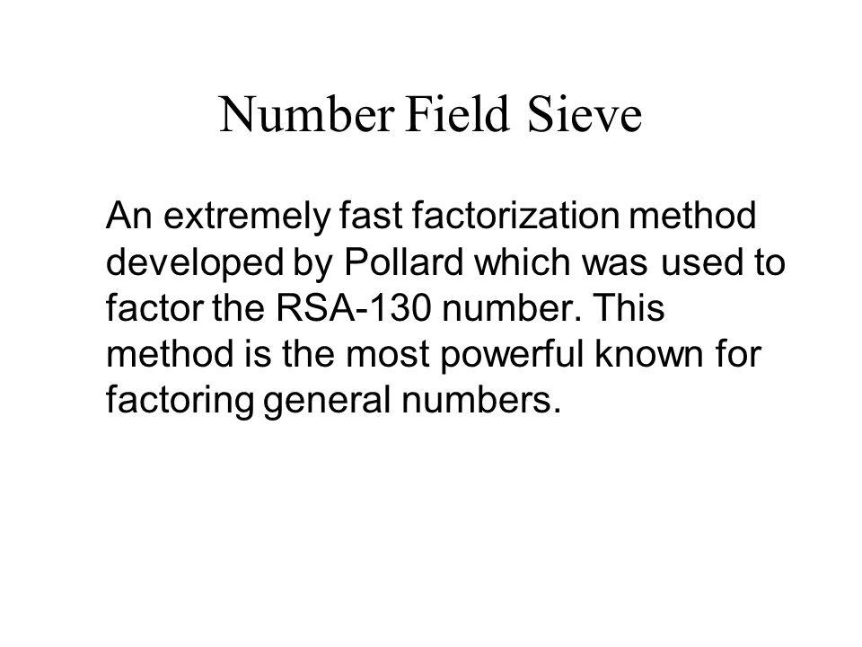 Number Field Sieve