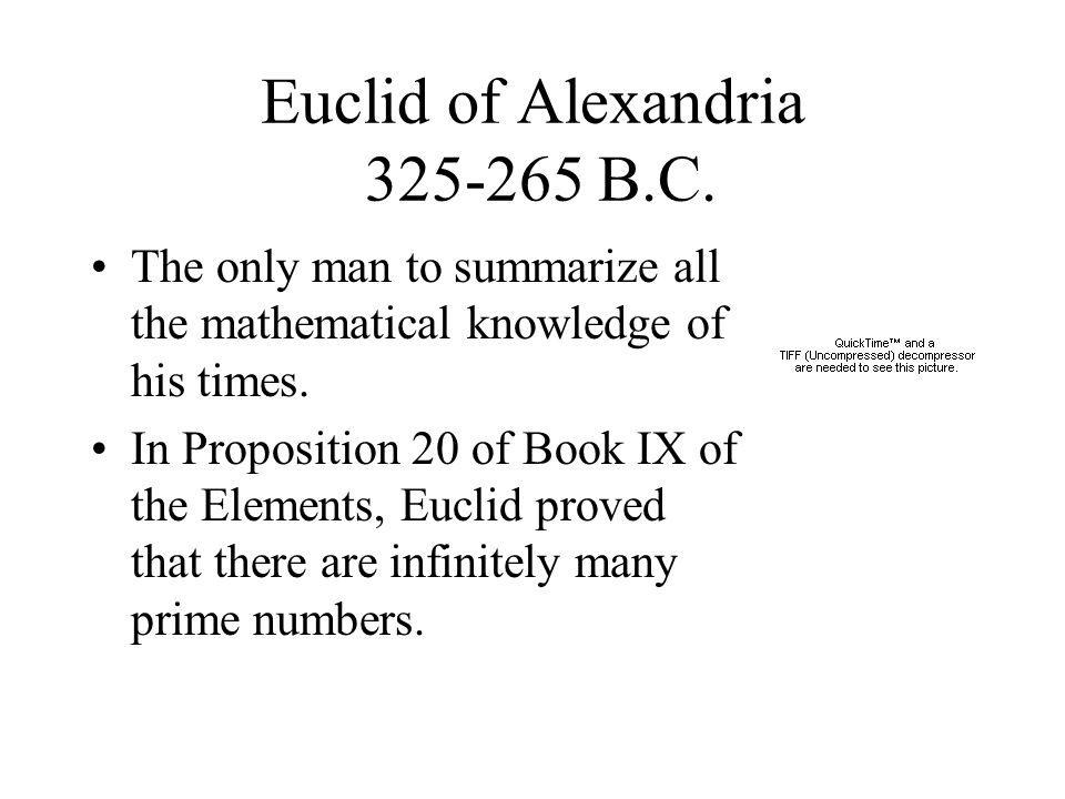 Euclid of Alexandria 325-265 B.C.