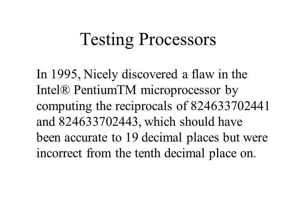 Testing Processors
