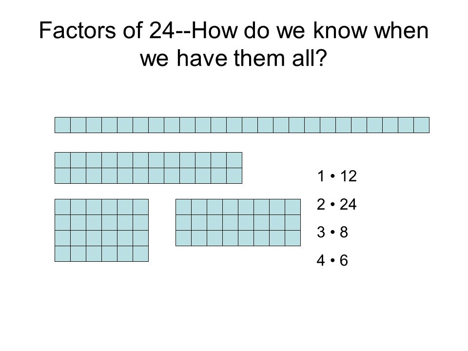 Factors of 24--How do we know when we have them all