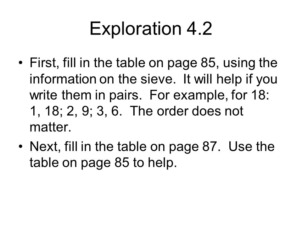 Exploration 4.2