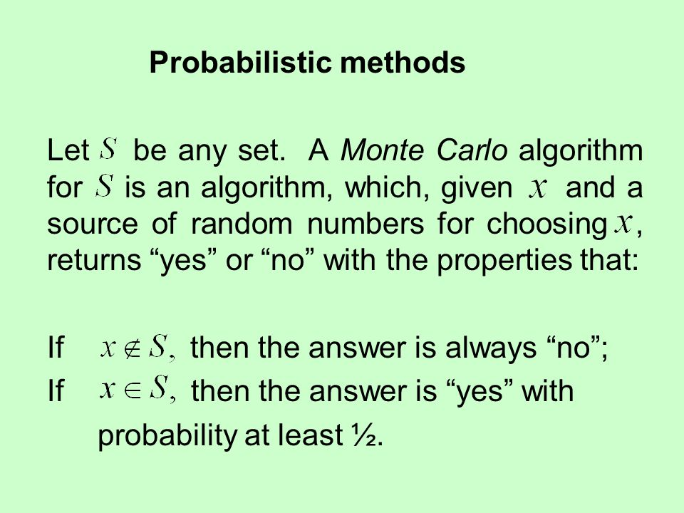 Probabilistic methods