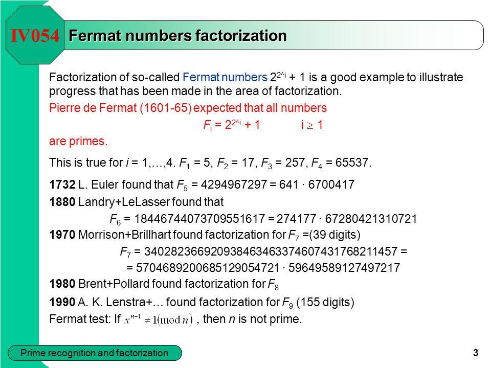Fermat numbers factorization