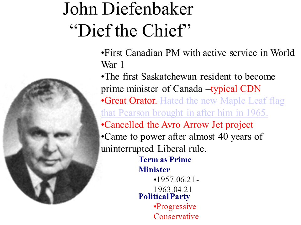 John Diefenbaker Dief the Chief