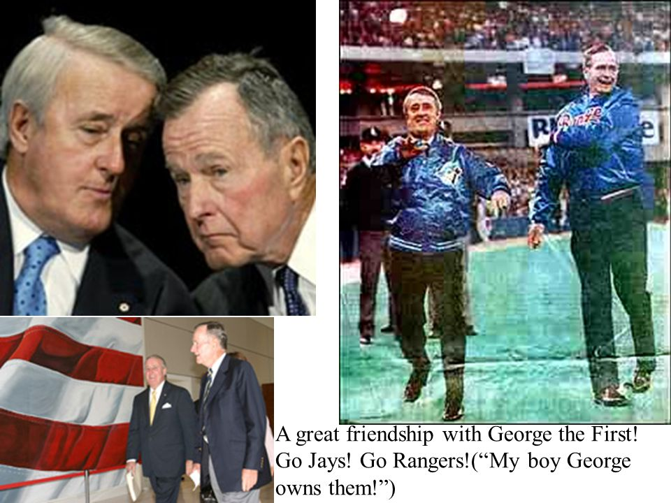 A great friendship with George the First. Go Jays. Go Rangers