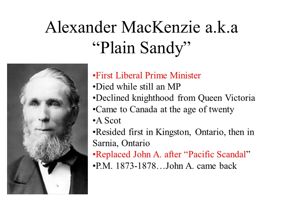 Alexander MacKenzie a.k.a Plain Sandy