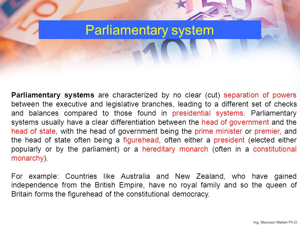 Parliamentary Democracy Parliamentary and Pres...