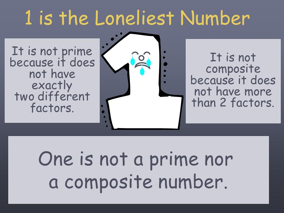 1 is the Loneliest Number