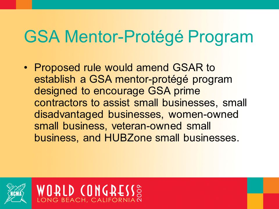 GSA Mentor-Protégé Program