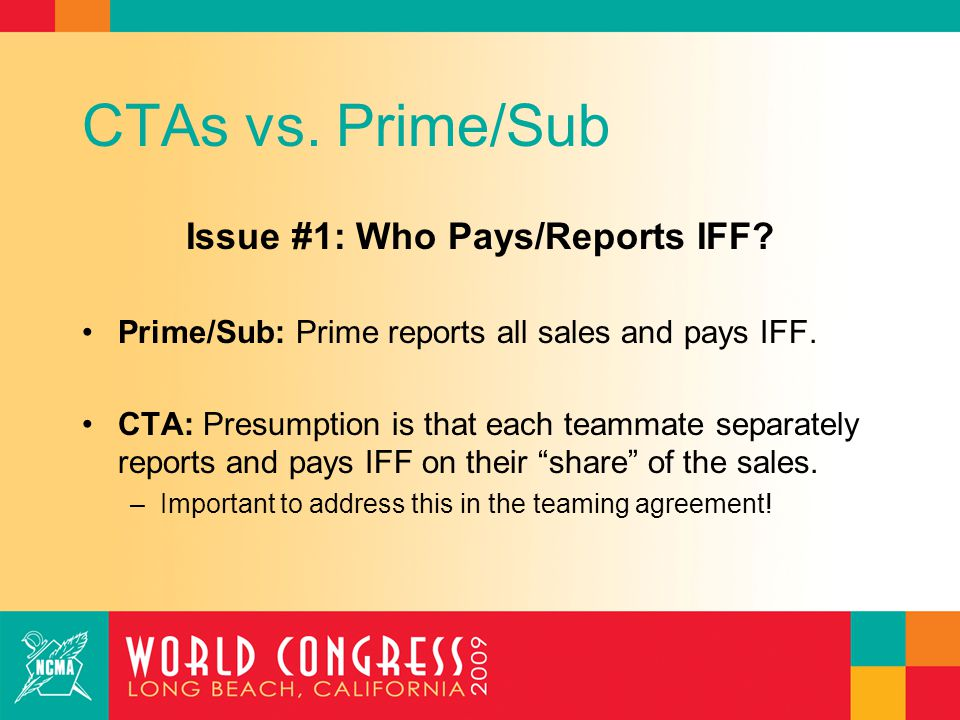 CTAs vs. Prime/Sub Issue #2: Prime Markups