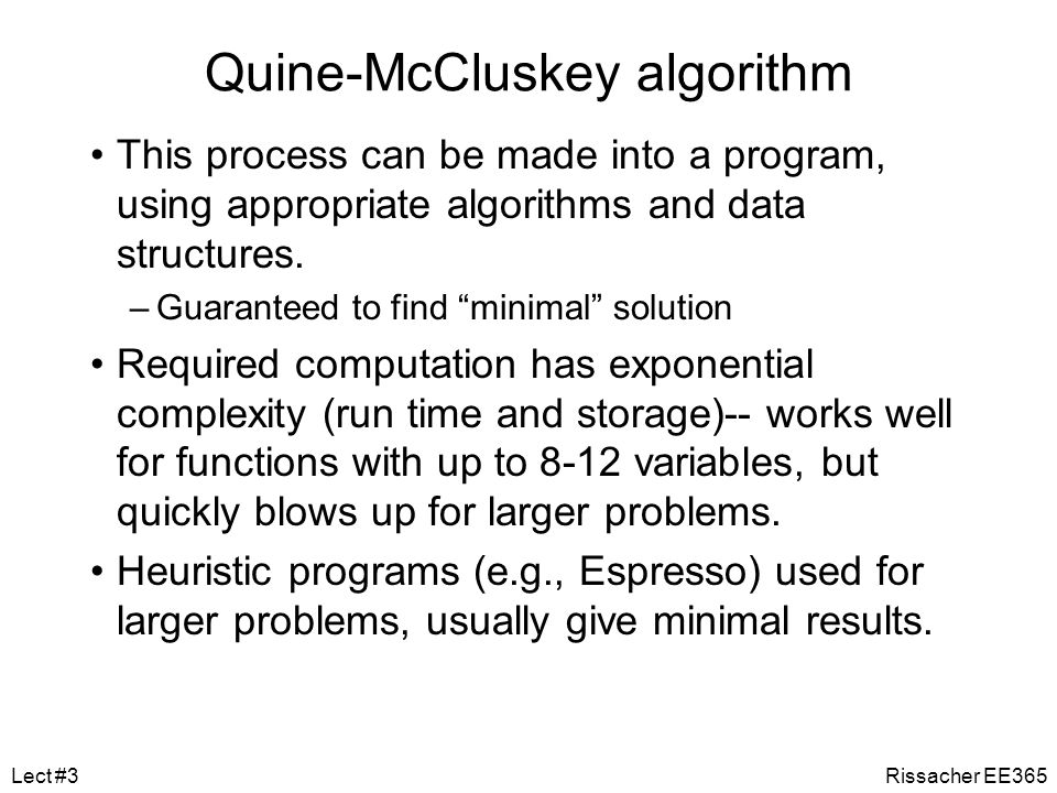 Quine-McCluskey algorithm