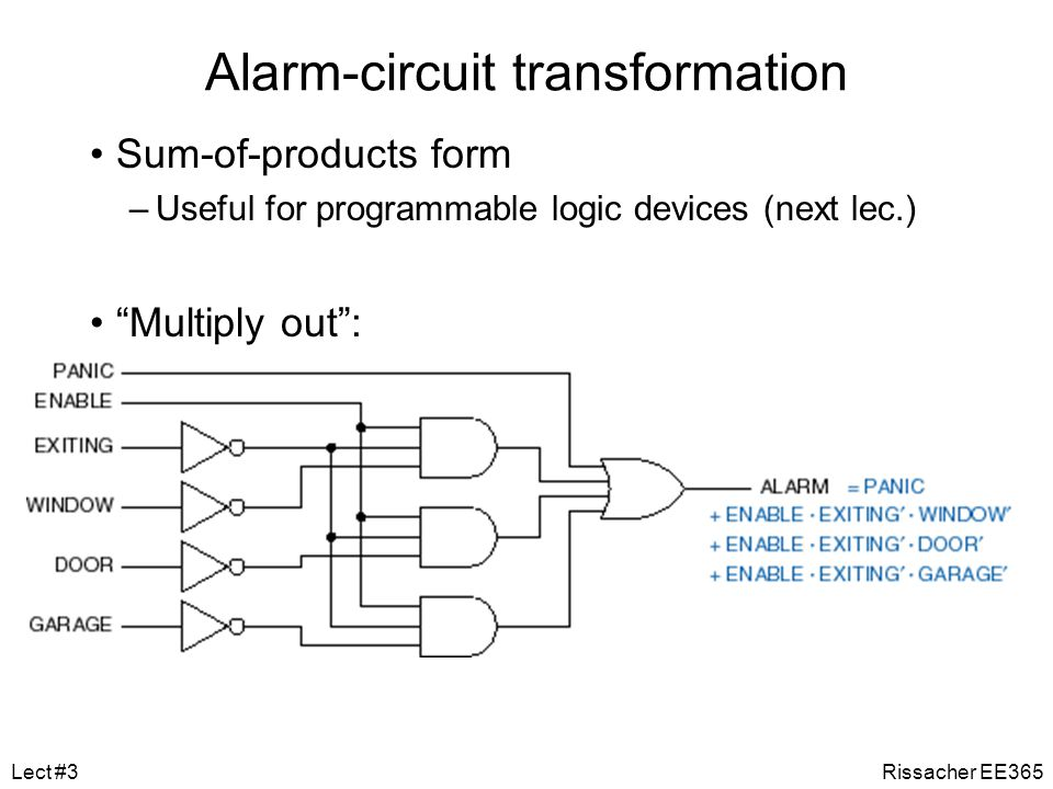 Alarm-circuit transformation