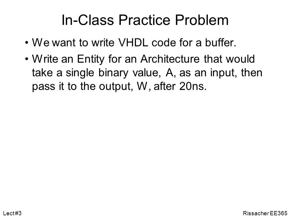 In-Class Practice Problem