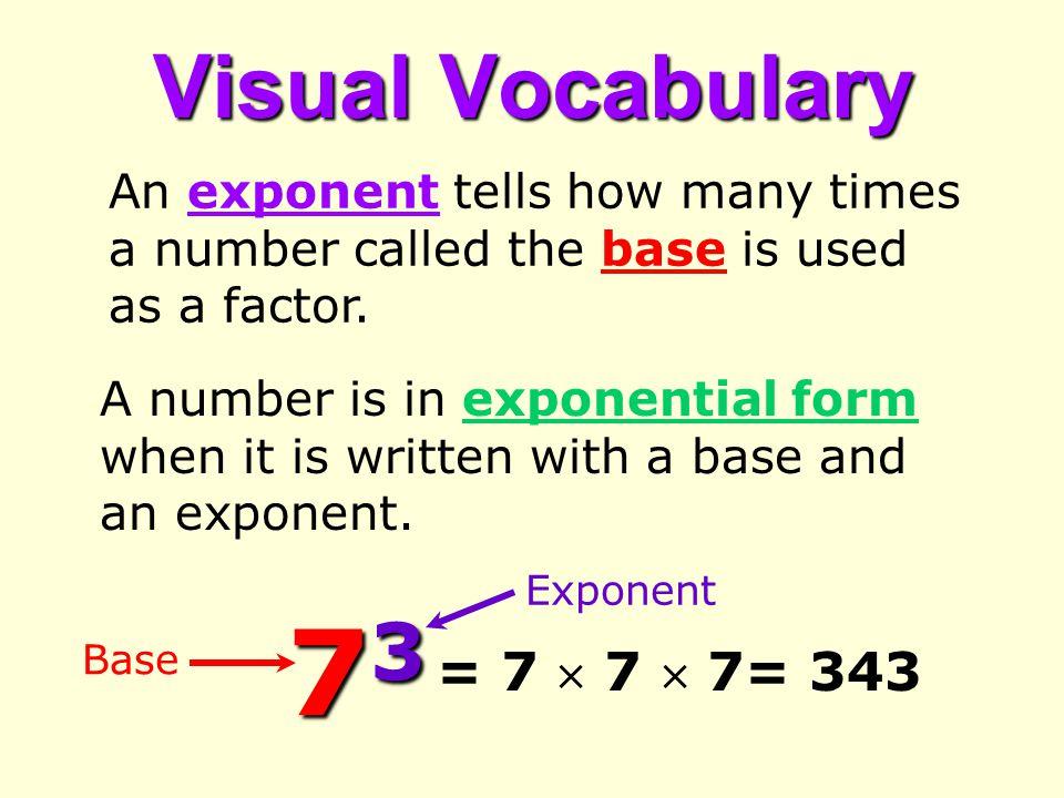 73 Visual Vocabulary = 7  7  7= 343