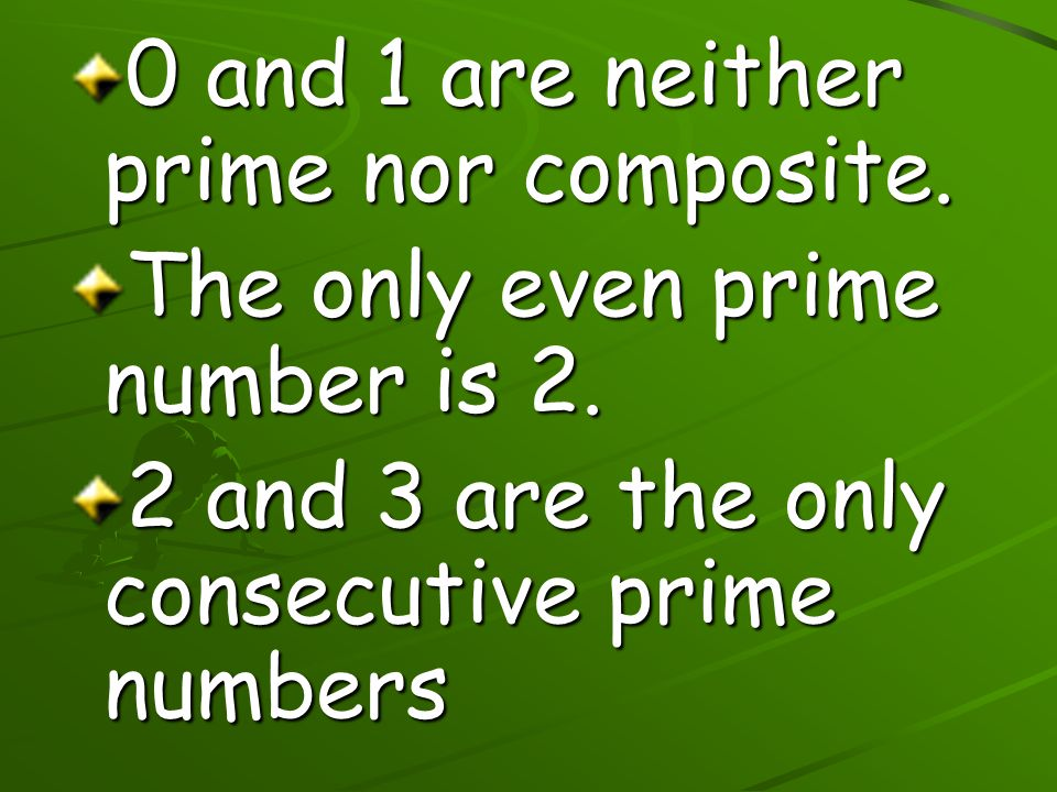 0 and 1 are neither prime nor composite.
