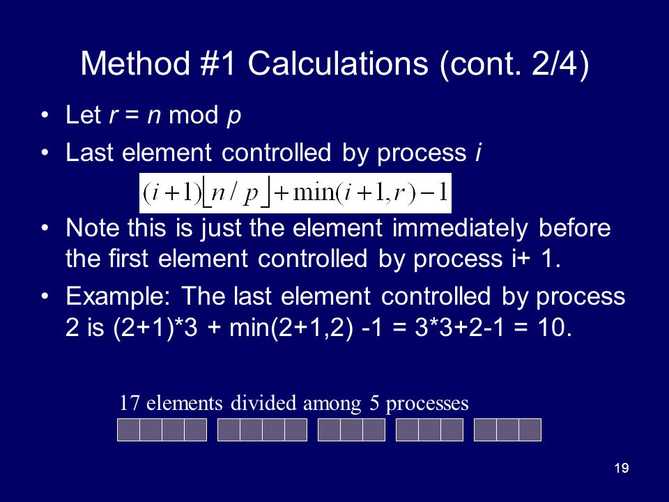 Method #1 Calculations (cont. 2/4)