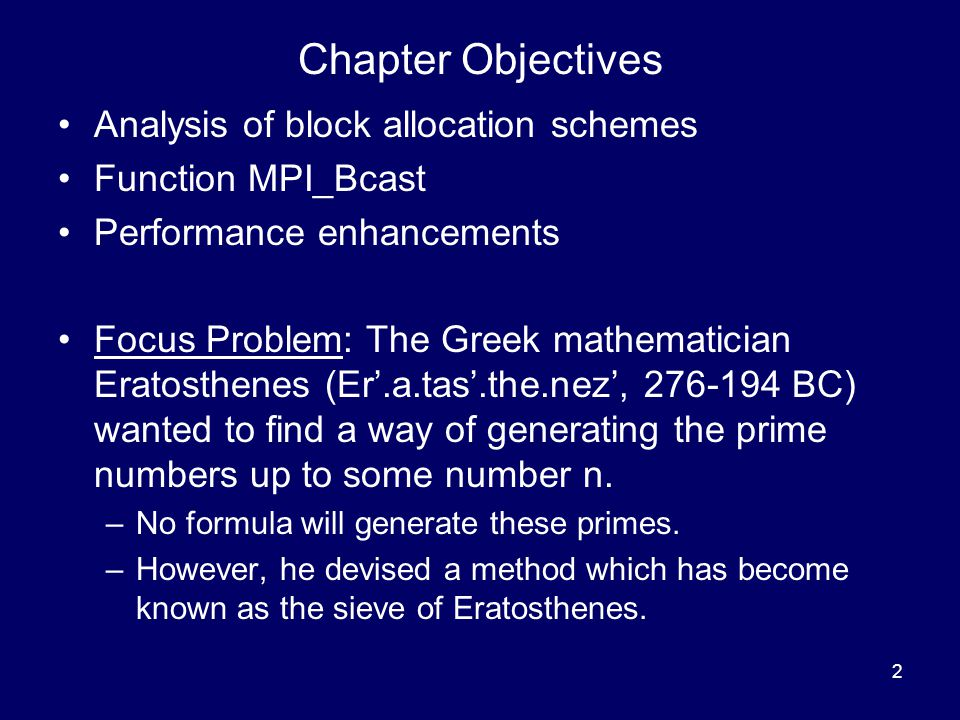 Chapter Objectives Analysis of block allocation schemes