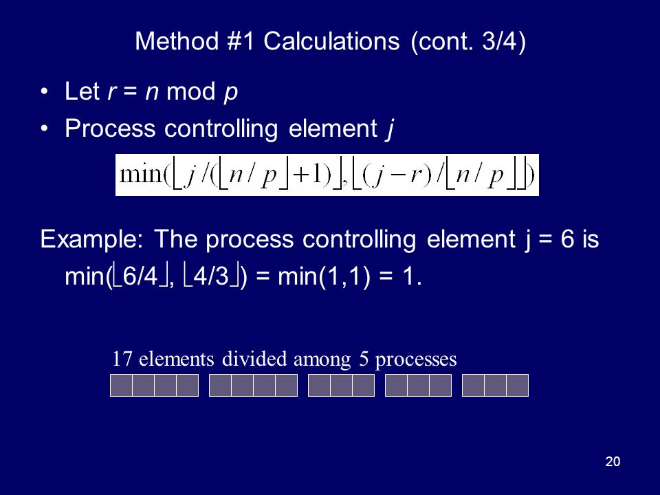 Method #1 Calculations (cont. 3/4)