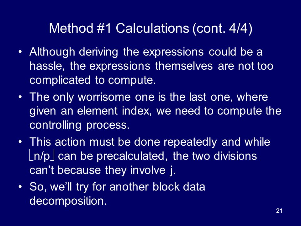 Method #1 Calculations (cont. 4/4)