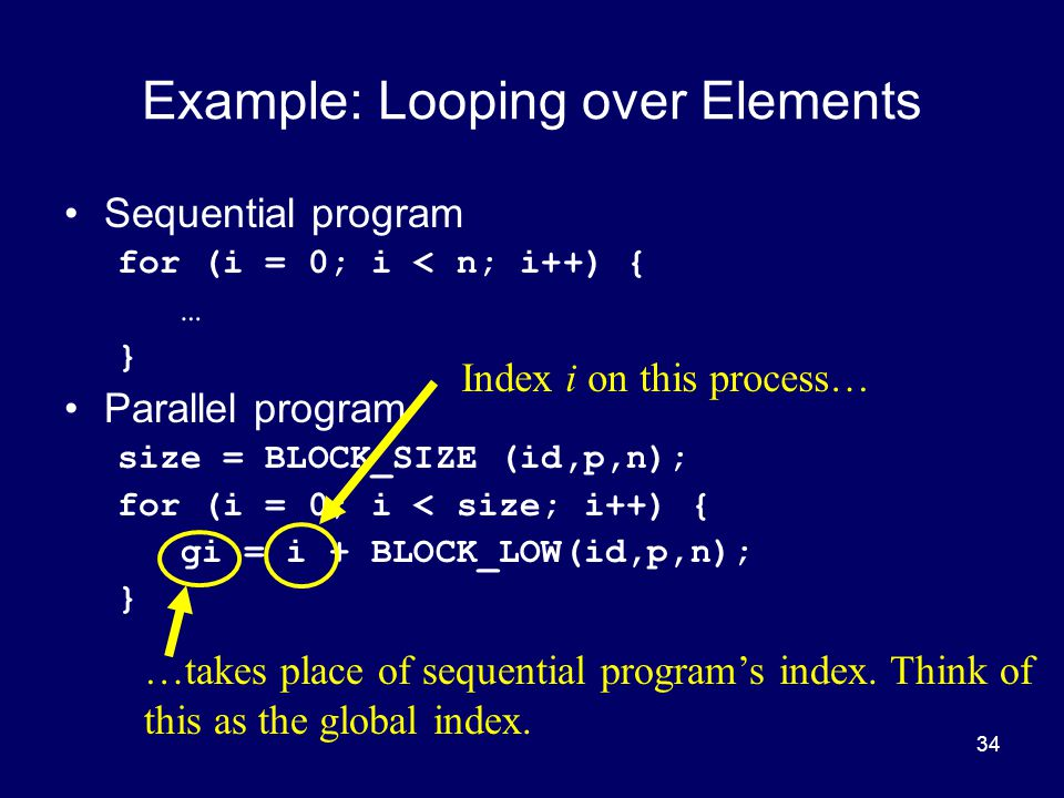 Example: Looping over Elements