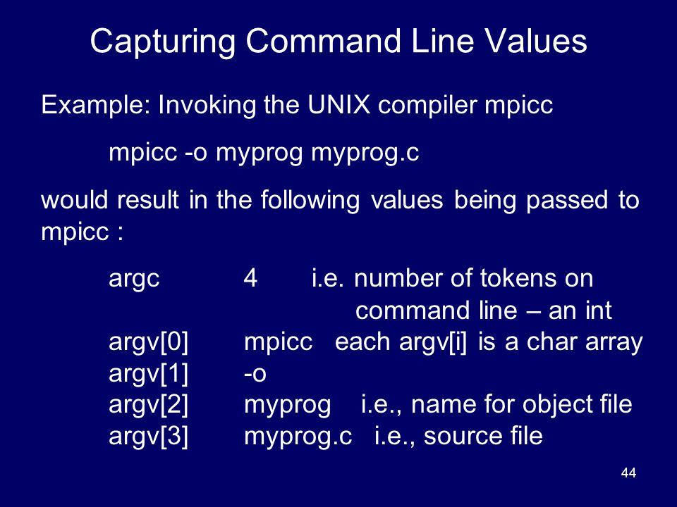 Capturing Command Line Values
