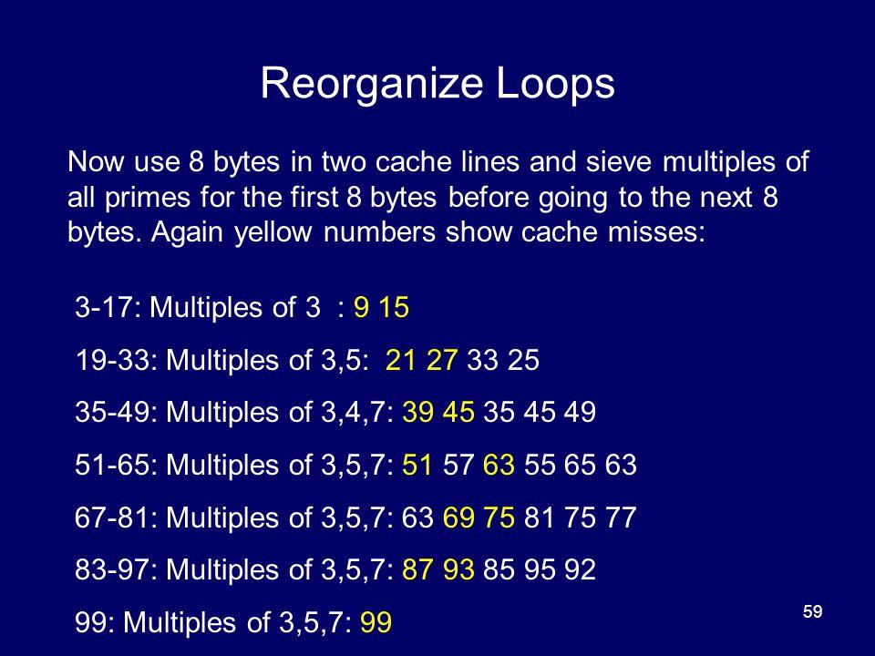 Reorganize Loops
