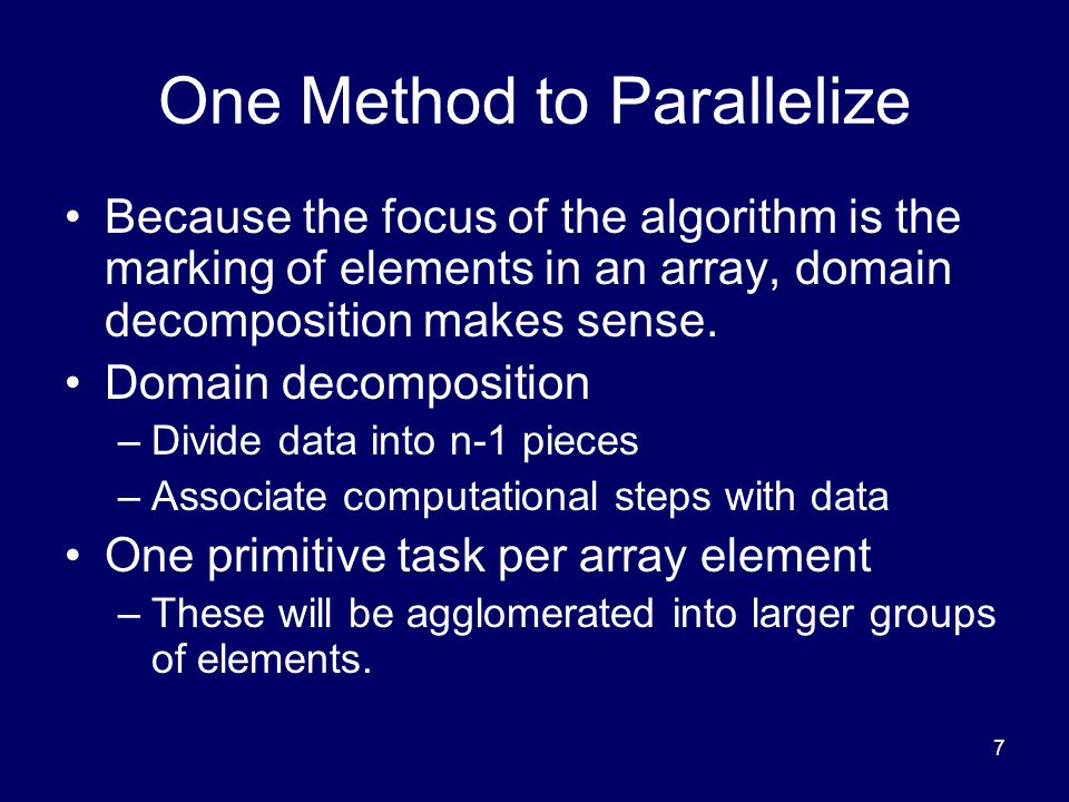 One Method to Parallelize