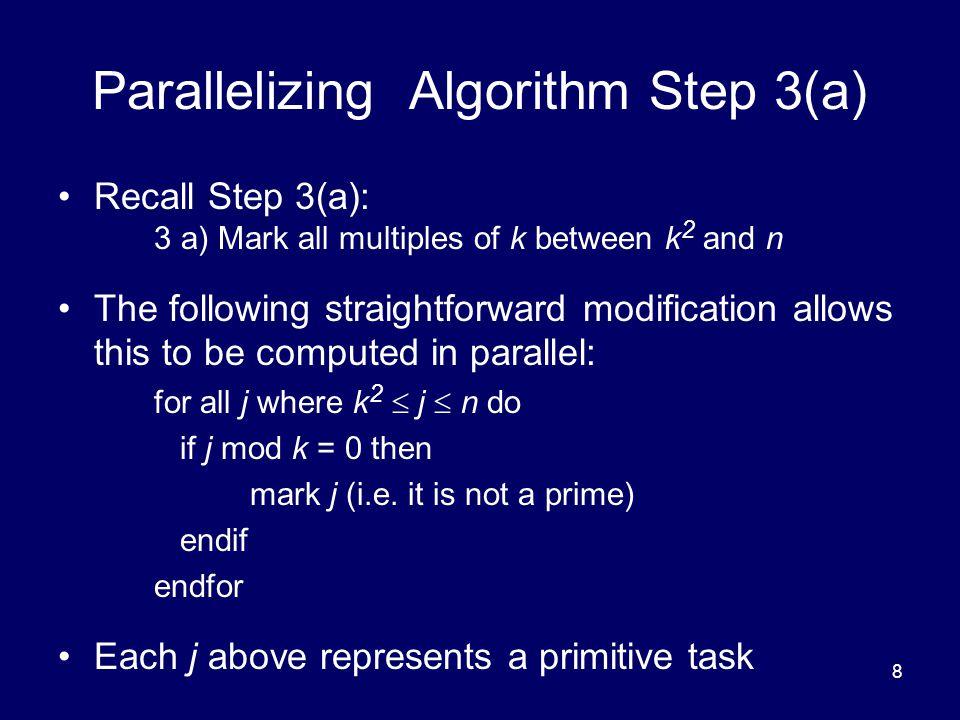 Parallelizing Algorithm Step 3(a)