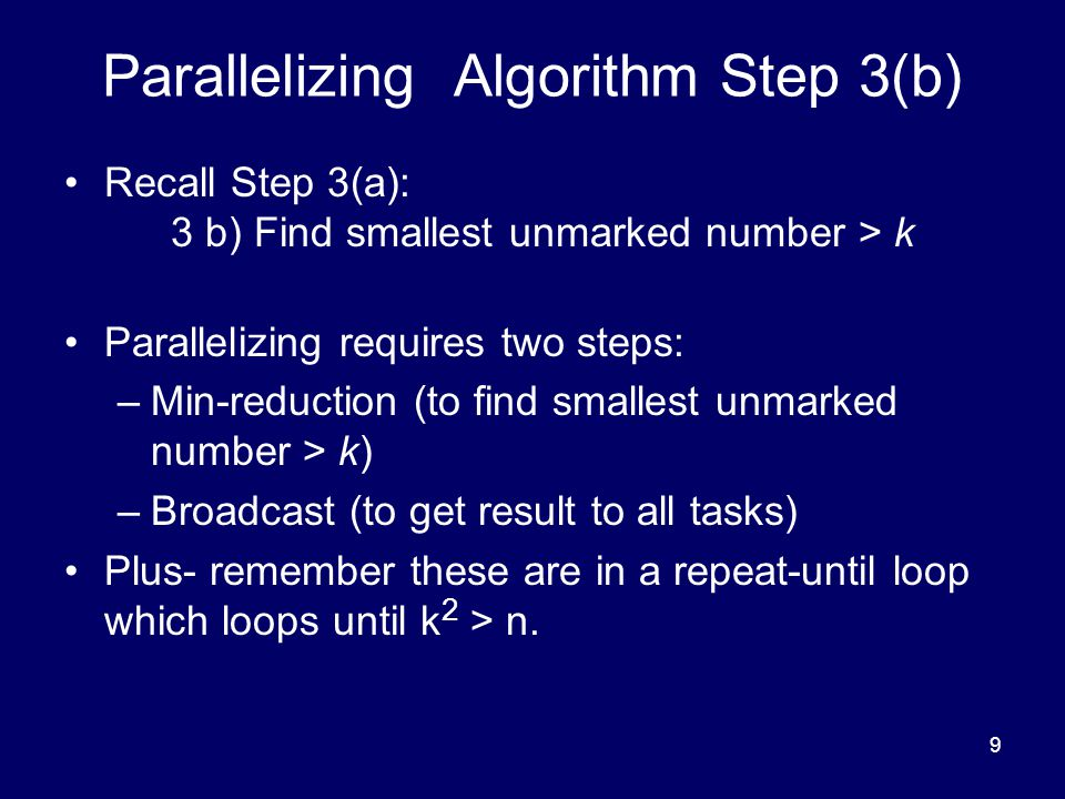 Parallelizing Algorithm Step 3(b)
