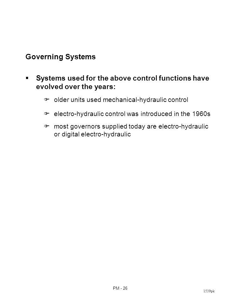 Figure 9.25: Functional block diagram of MHC turbine governing system
