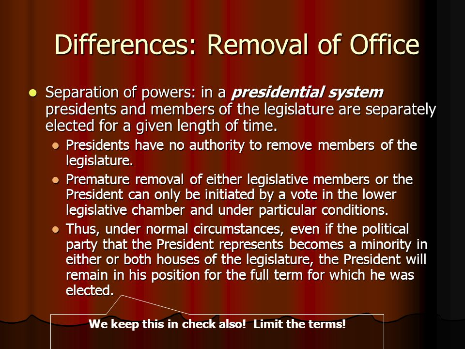 Presidential versus parliamentary system ppt video for How many times can a president be elected to office