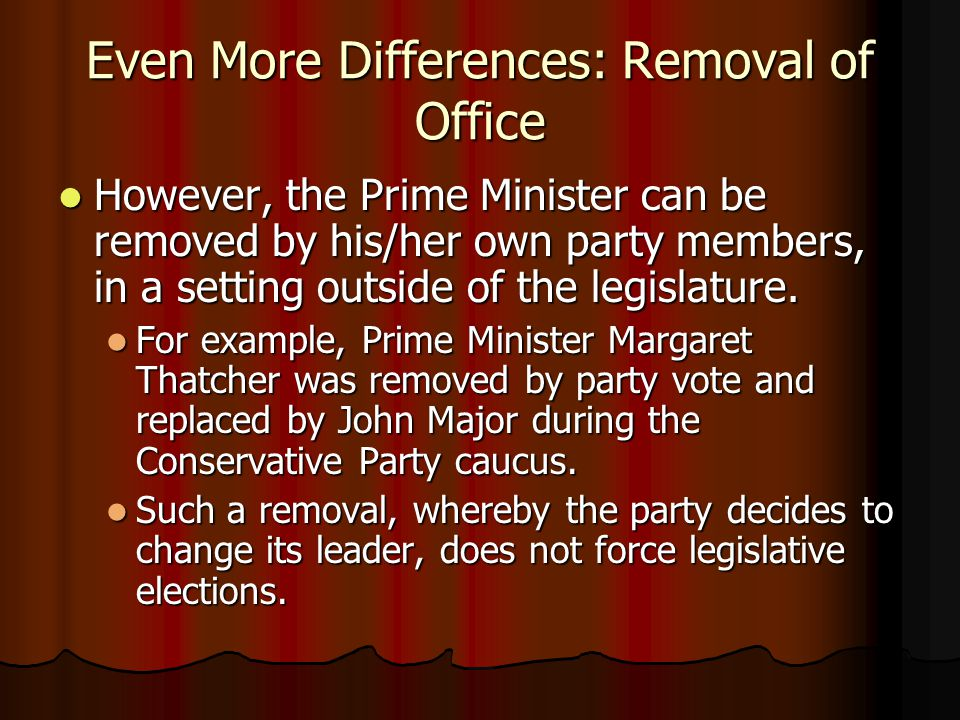 Even More Differences: Removal of Office