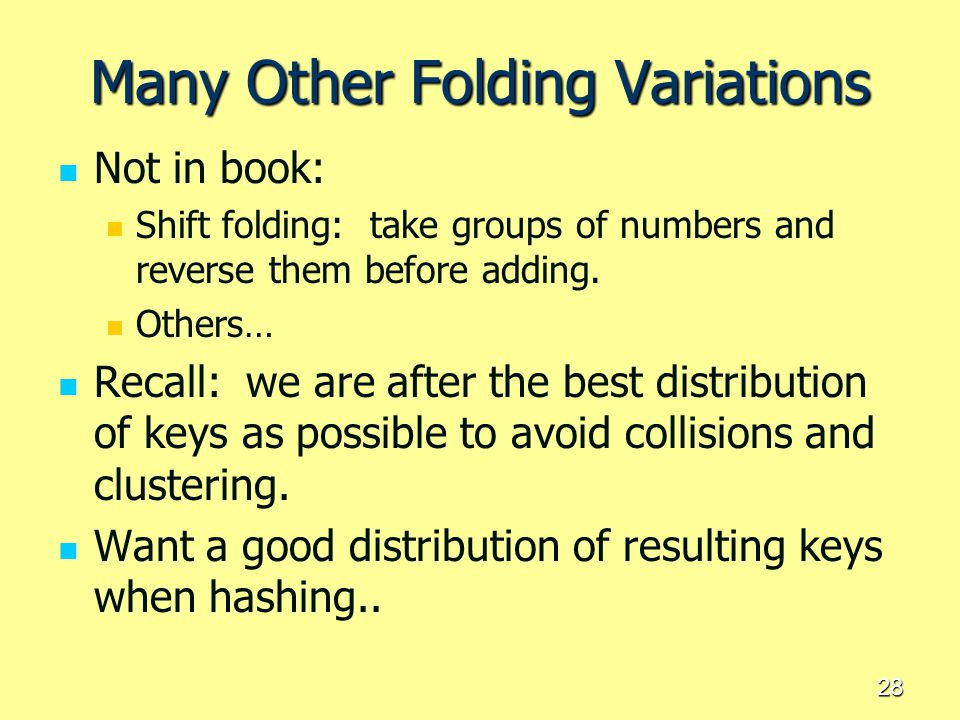Many Other Folding Variations