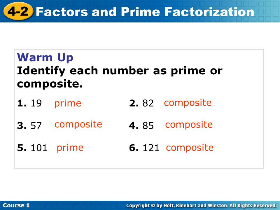 Factors and Prime Factorization