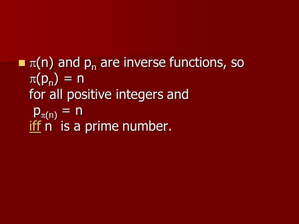 p(n) and pn are inverse functions, so p(pn) = n for all positive integers and pp(n) = n iff n is a prime number.