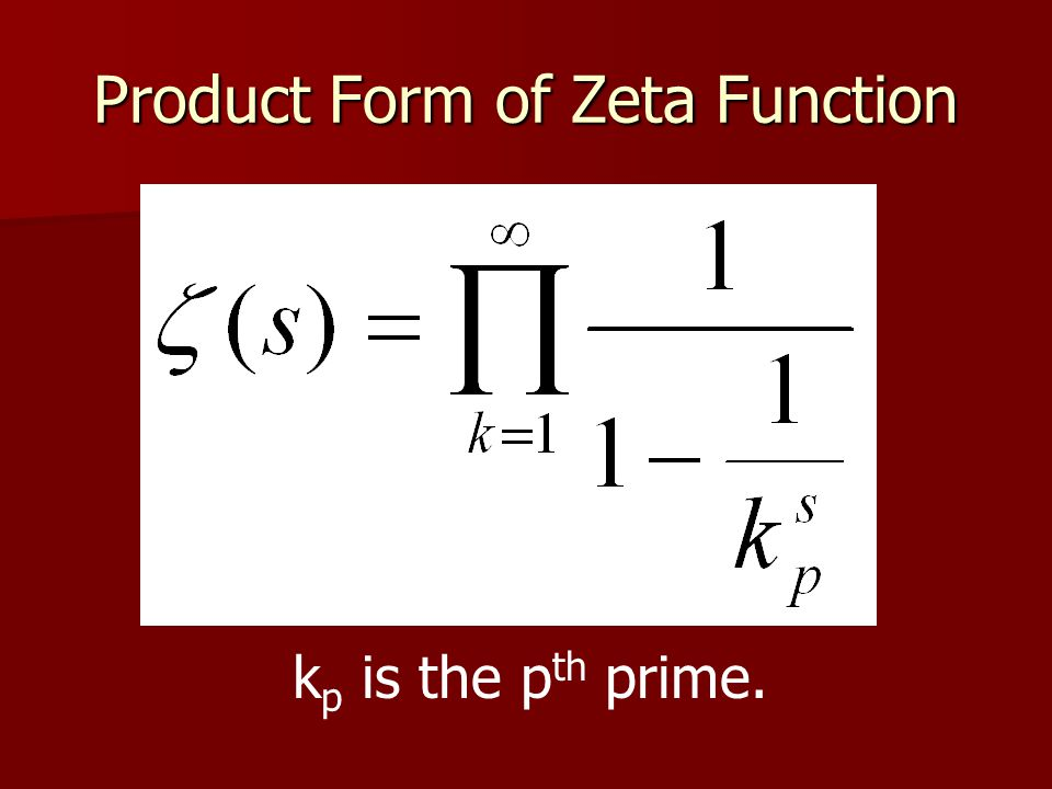 Product Form of Zeta Function