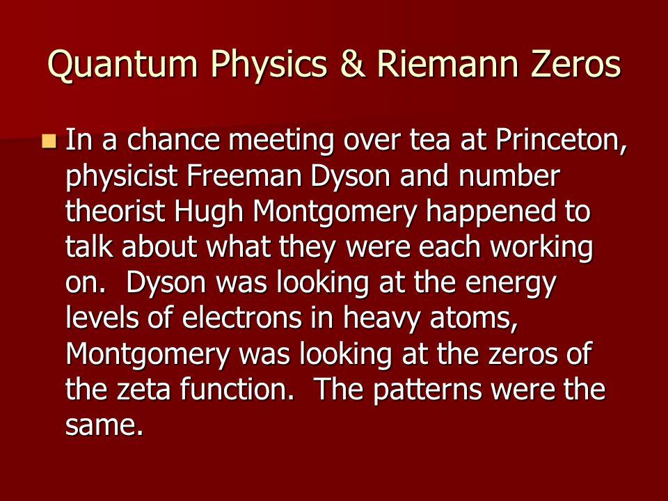 Quantum Physics & Riemann Zeros